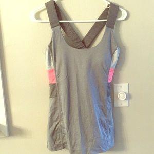 Mpg pink grey bra workout tank